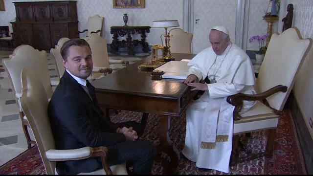Vizita surpriza la Vatican. Papa Francisc a vorbit cu Leonardo DiCaprio despre incalzirea globala