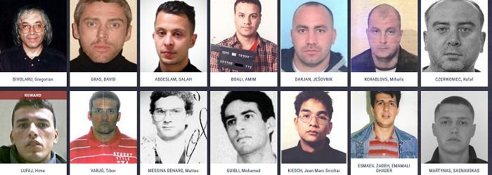EUROPOL publica fotografiile celor mai cautati infractori din Europa. Cine sunt cei doi romani de pe lista