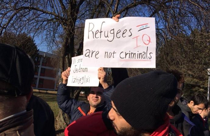 Protest al migrantilor din Croatia, dupa ce cinci barbati au ajuns in spital batuti de localnici: