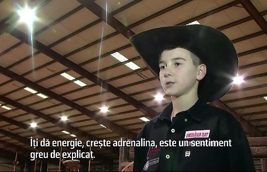 Cel mai tanar campion mondial la rodeo are 11 ani si calareste tauri inca dinainte sa ajunga la scoala