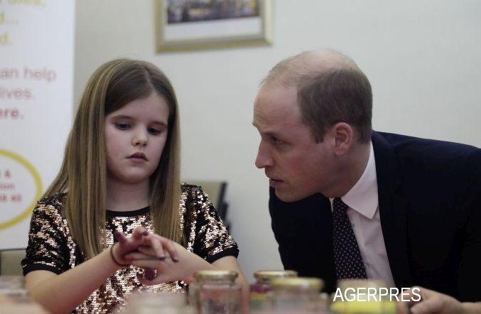 Printul William a consolat-o pe o fetita de 9 ani careia i-a murit tatal. Mesajul lui despre moartea Printesei Diana. VIDEO