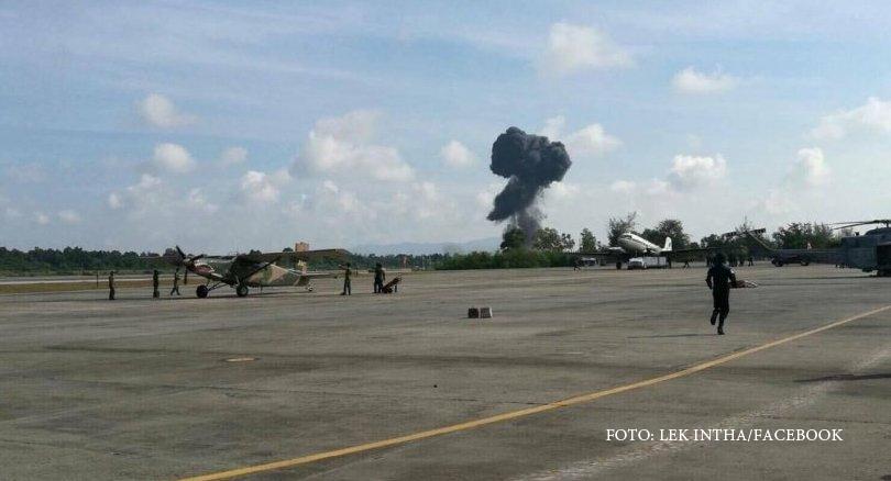 Accident aviatic la o demonstratie de Ziua Copiilor, in Thailanda. VIDEO: Momentul prabusirii avionului a fost filmat