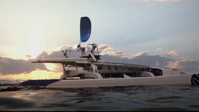 Calatorie fara precedent: vor sa faca inconjurul lumii cu catamaranul. Vasul va folosi numai energie verde