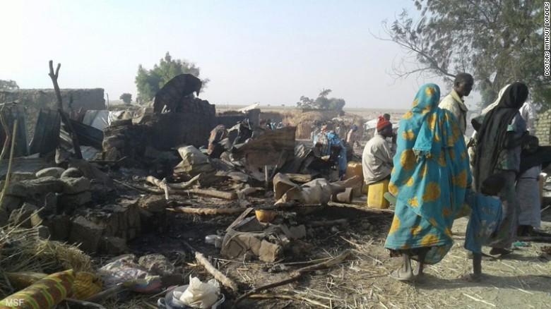 Un avion de lupta nigerian a deschis focul din greseala asupra unei tabere de refugiati. Peste 50 de oameni au fost ucisi