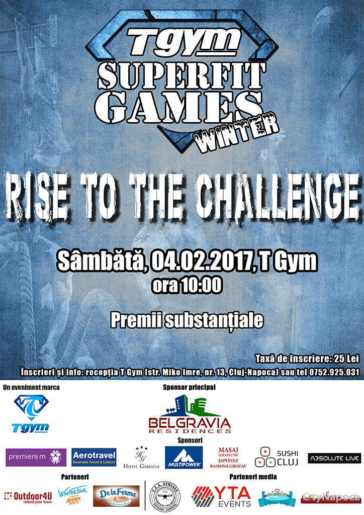 Peste 30 de concurenti vor participa anul acesta la competitia sportiva, T GYM SUPERFIT GAMES WINTER din Cluj-Napoca