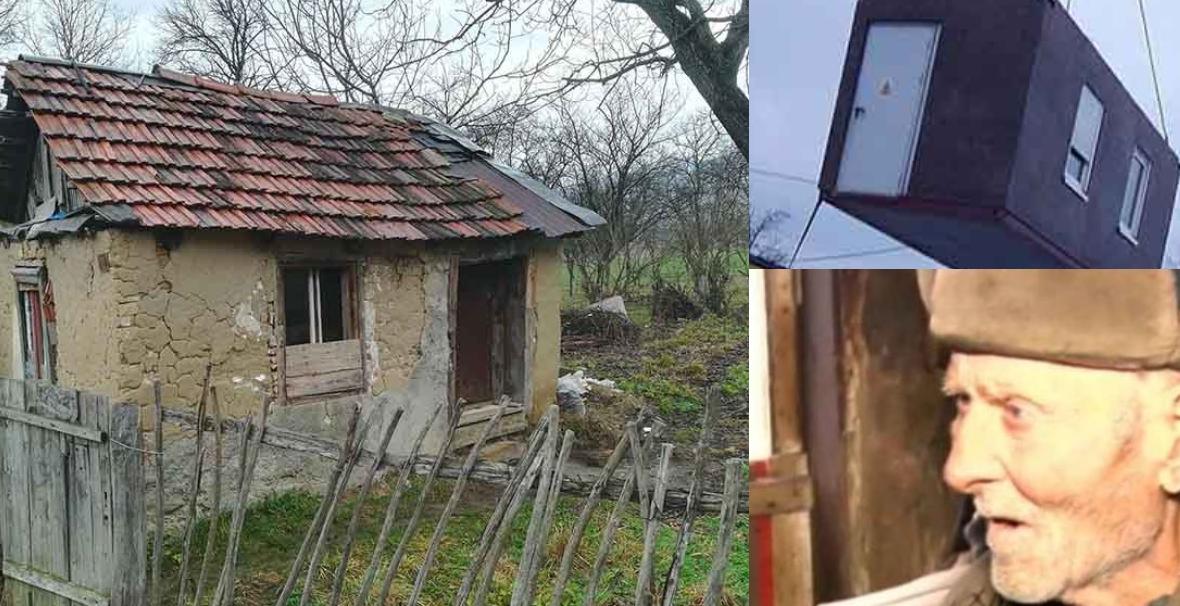 Gest impresionant pentru un bătrân care locuia într-o cocioabă mică și dărăpănată
