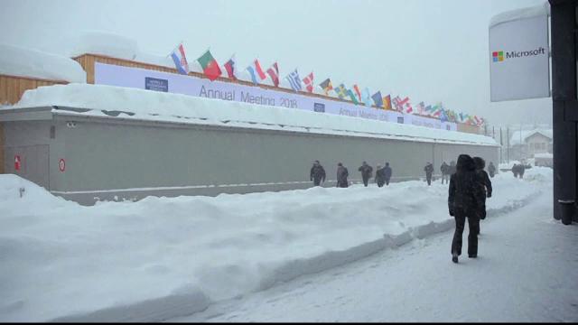 Forumul Economic de la Davos: liderii mondiali, afectați din cauza iernii