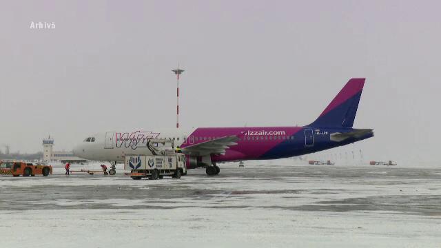 Avion Wizz Air întors la o oră după decolare la Sibiu din cauza unor probleme tehnice