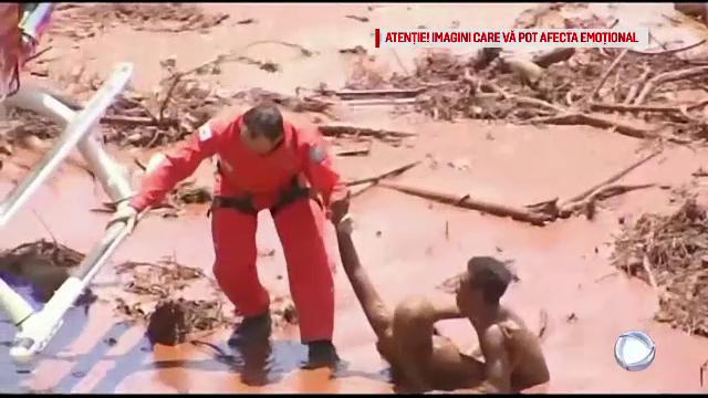Nouă morți și 300 de dispăruți după ce un baraj minier s-a rupt în Brazilia. VIDEO