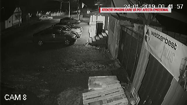 După ce a dat o spargere, un grup de hoți a provocat un accident. Scenele surprinse