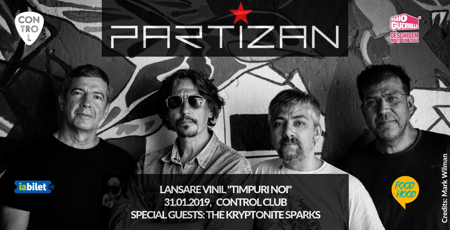 """Formația Partizan lansează EP-ul """"Timpuri Noi"""" pe vinil. Concert pe 31 ianuarie"""