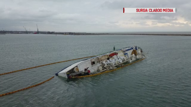 Nava cu oi scufundată în Portul Midia va fi adusă curând la cheu