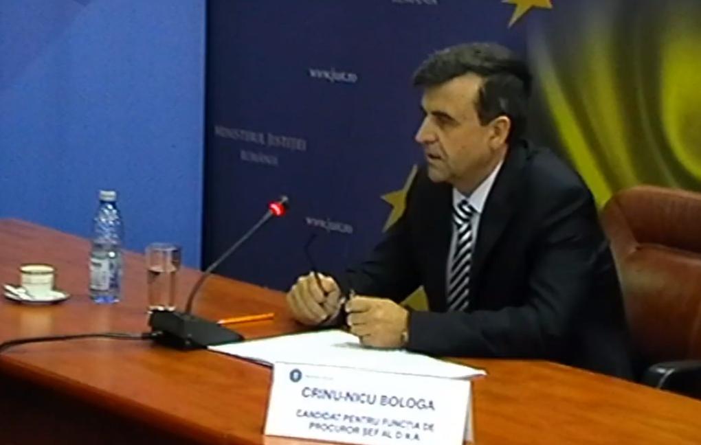 Procurorul Crin Bologa, la un pas de a deveni succesorul lui Kovesi la șefia DNA