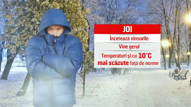 Vortexul polar ar putea ajunge în România. Temperaturile vor coborî și la -20 de grade