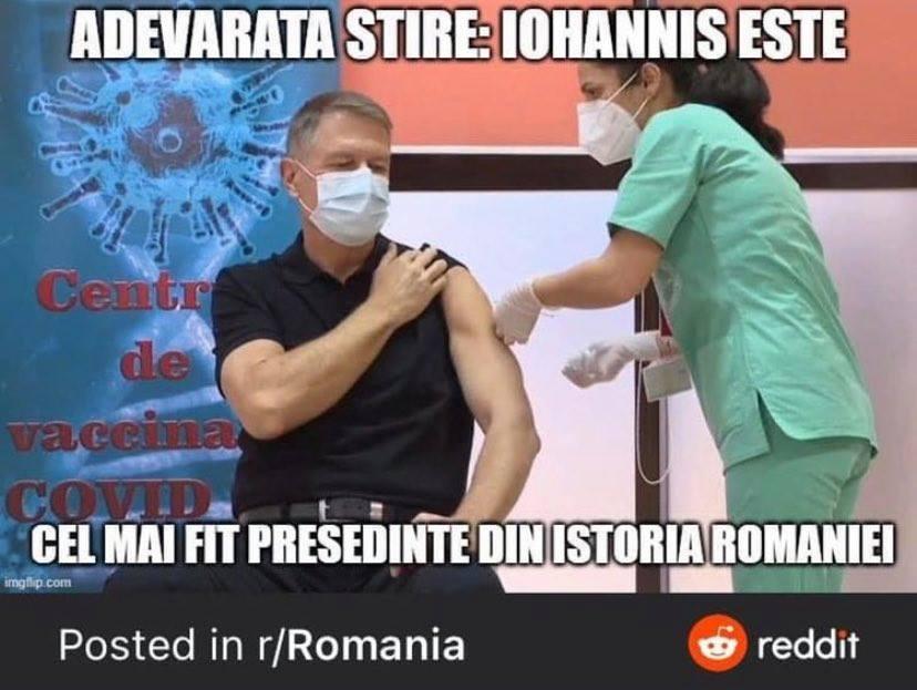 Glumele apărute în mediul online, după ce președintele Klaus Iohannis s-a vaccinat împotriva Covid-19
