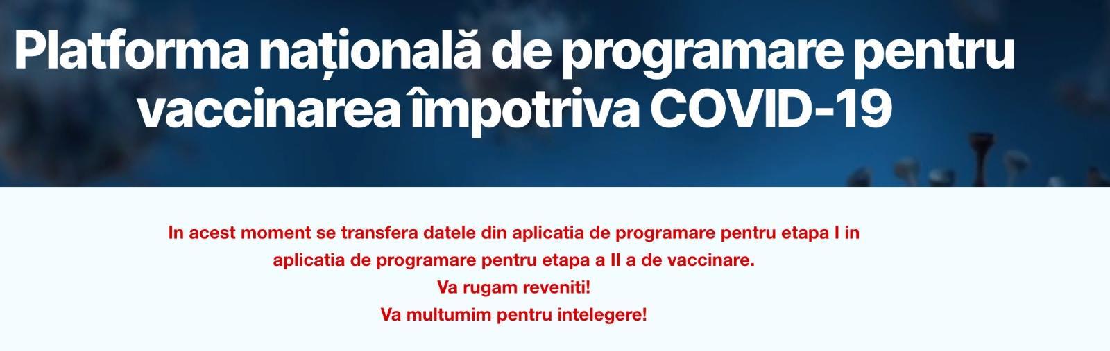 De ce nu a funcţionat vineri aplicaţia de programare la vaccinare. Explicaţiile STS