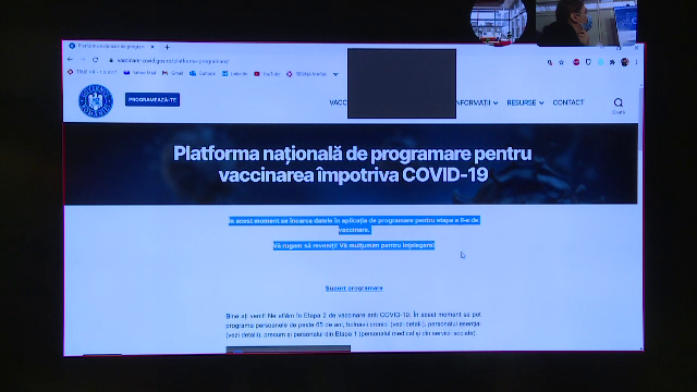 Cei care şi-au creat conturi pe platforma de vaccinare le pot folosi pentru a programa până la 1.000 de persoane