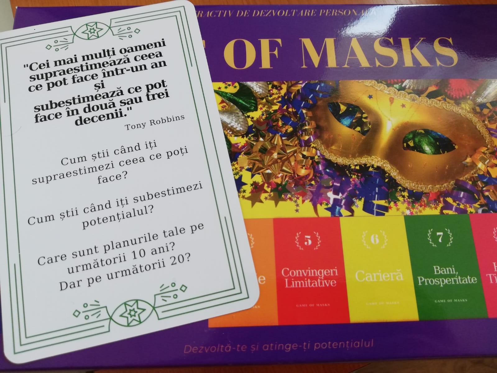 (P) Îmbunătățește-ți relația cu toți cei din jur cu ajutorul instrumentului Game of Masks!