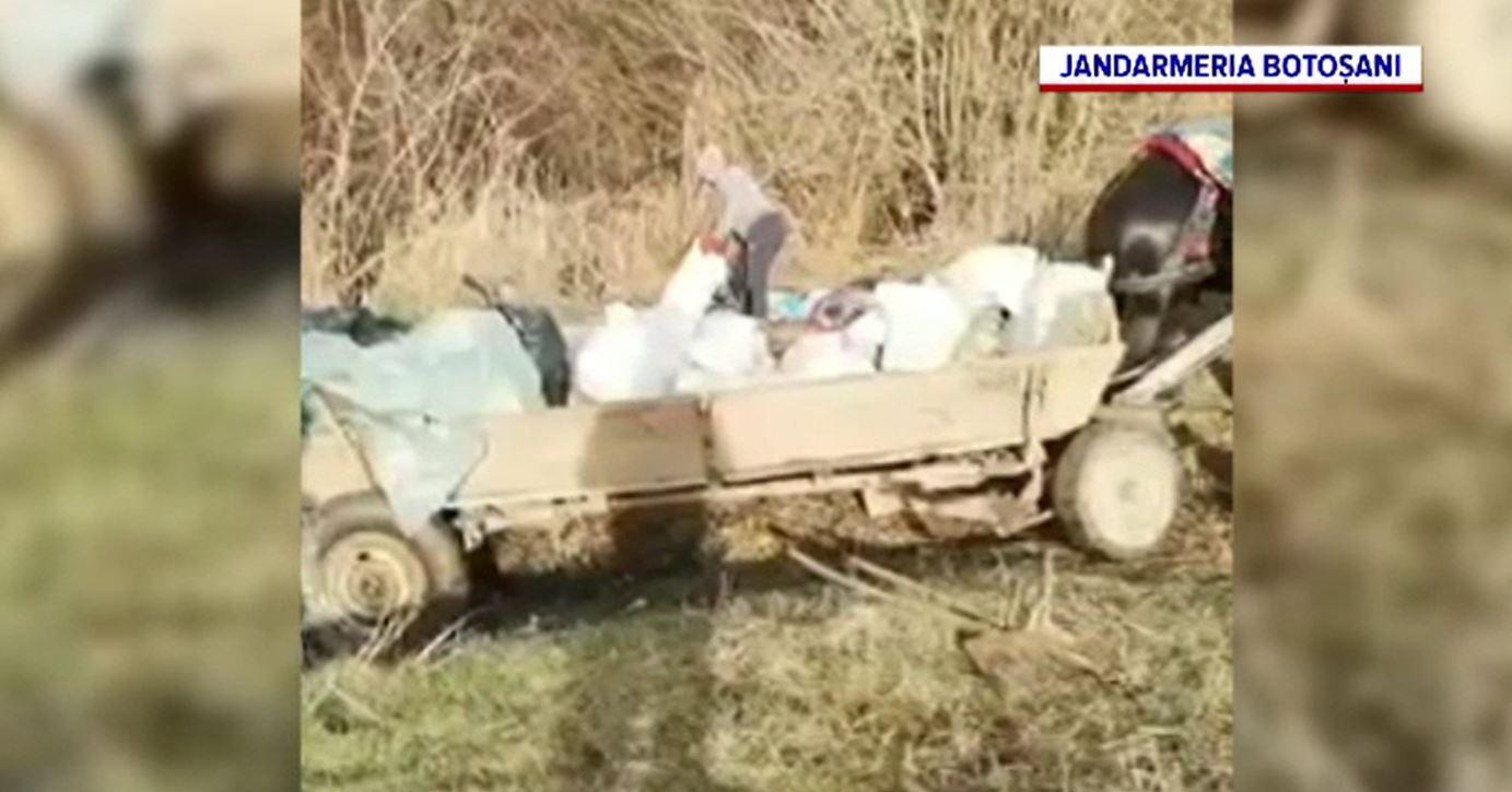 Ce a pățit un tânăr din Botoșani după ce și-a aruncat gunoiul pe marginea drumului