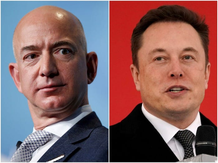 Elon Musk l-a ironizat pe Jeff Bezos după ce şi-a consolidat statutul de cel mai bogat pământean