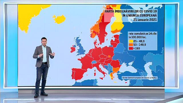 Zonele riscante din UE vor fi marcate pe harta restricțiilor cu roșu închis. Ce țări intră în această categorie