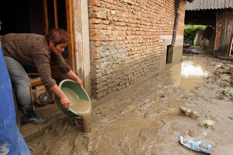Mai multe gospodarii din Timis, inundate din cauza unui canal colector