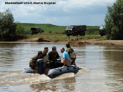 Basescu a adunat debitele Prutului si Dunarii, dar nu a rezultat inundatie