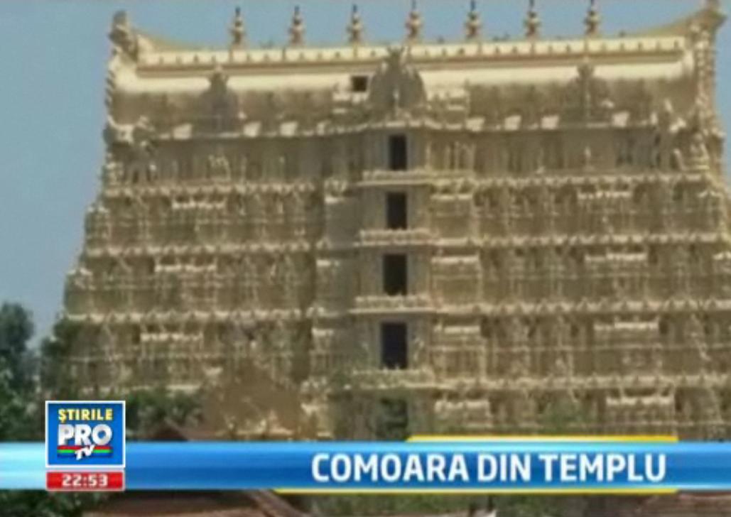 Un templu hindus din India, mai ceva ca pestera lui Ali Baba.E plin de bijuterii si pietre pretioase