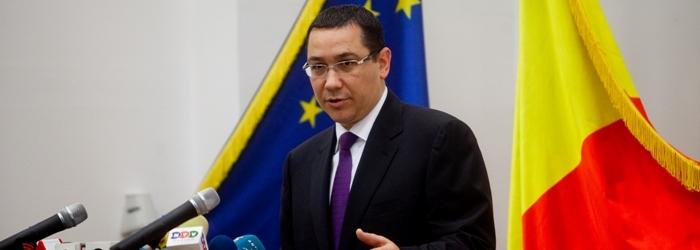 Ponta: HG privind aprobarea privatizarii CFR Marfa se va publica probabil miercuri in MO