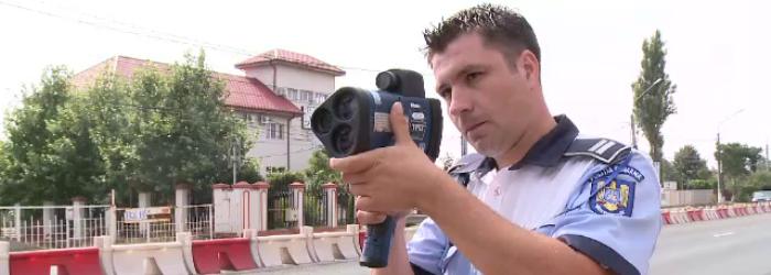 Un tanar de 19 ani, prins de Politie circuland cu 203 km/h pe Autostrada Transilvania