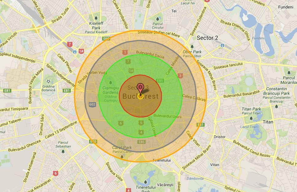Harta interactiva care iti arata ce se intampla daca o bomba atomica ar exploda in orasul tau