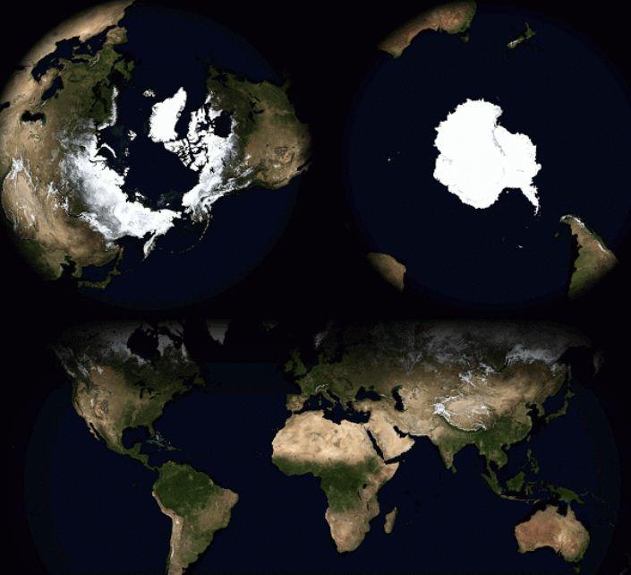 Respiratia Planetei in cele 4 anotimpuri: imagini superbe care arata cum bate
