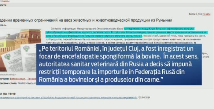 Rusii n-au cumparat de 10 ani carne de vita din Romania, dar opresc importurile. Pozitia oficiala despre