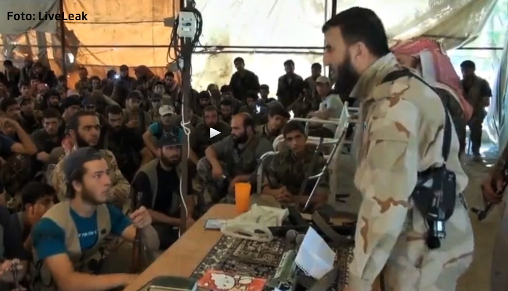 Gafa a unuia dintre liderii rebelilor sirieni.
