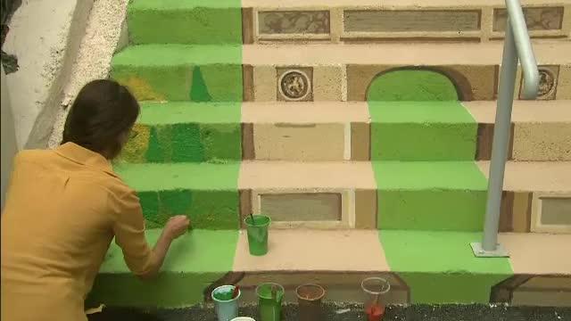 Strada Xenofon si ambitia unei pictorite de a transforma o scara pitoreasca intre case intr-o adevarata opera de arta