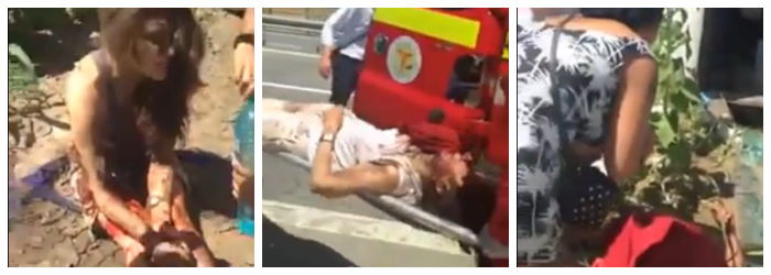 Imagini amator surprinse imediat dupa accidentul de pe Autostrada Soarelui. Momentele de cosmar prin care au trecut ranitii
