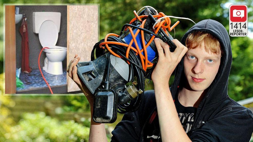 Un adolescent din Germania a pompat jumatate din apa unui iaz intr-o toaleta pentru a-si gasi telefonul mobil