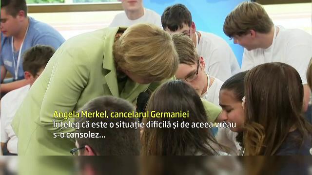 Angela Merkel, criticata dur dupa ce a facut sa planga o adolescenta palestiniana care risca sa fie deportata: VIDEO