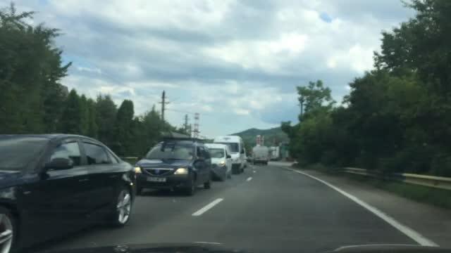 Ambuteiaje de cativa kilometri pe DN1, din cauza lucrarilor de asfaltare. Ce au anuntat politistii