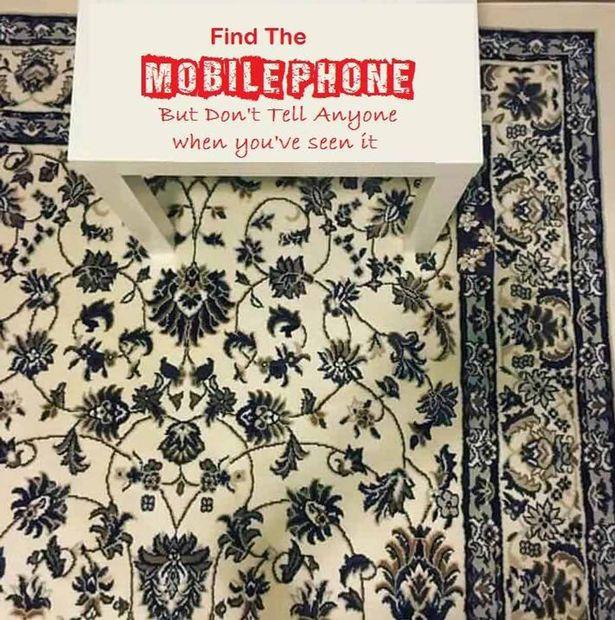 Unde este ascuns telefonul mobil? O iluzie optica a dat batai de cap utilizatorilor pe retelele de socializare