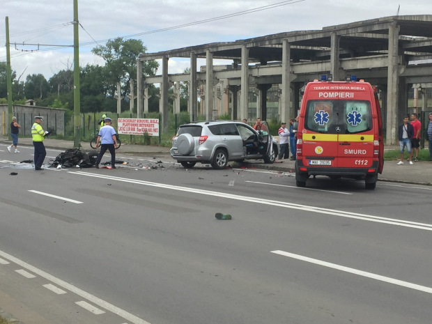 Doi motociclisti au murit intr-un accident grav, la Brasov. Marian Godina a fost printre martorii tragediei