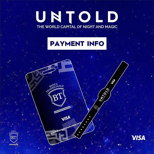 Instrumente de plata la UNTOLD 2016: cardul CONTACTLESS si bratara RFID