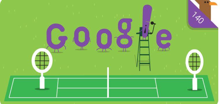 Turneul de la Wimbledon implineste astazi 140 de ani de la inaugurare. Google a pregatit un doodle special cu aceasta ocazie