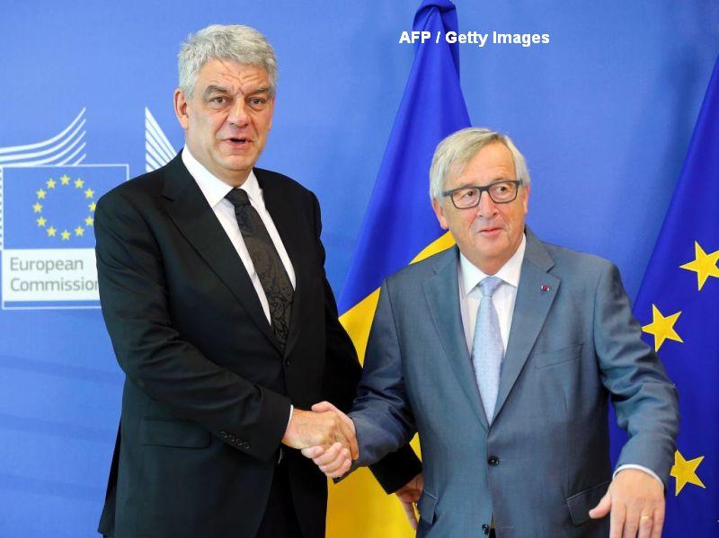 Mihai Tudose, discutie la telefon cu Jean-Claude Juncker, la o saptamana dupa ce s-au intalnit la Bruxelles