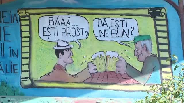 Un pictor amator dintr-un sat din Galati a ajuns celebru pentru desenele sale. Cum arata o scena copiata din Las Fierbinti