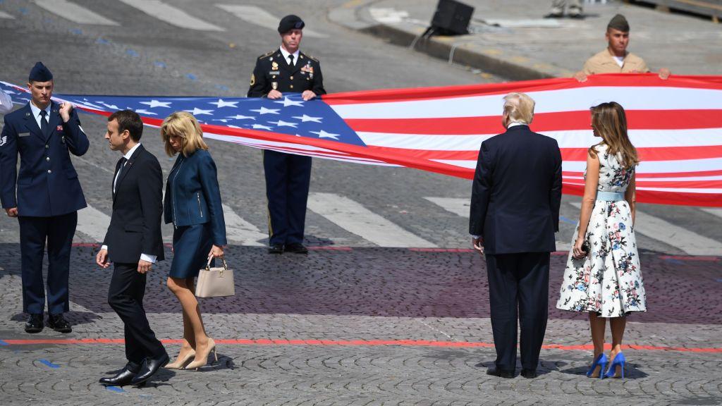 Presedintele Trump si-a incheiat vizita la Paris, dupa parada de pe Champs-Elysees. Mesajul lui Macron de Ziua Frantei. FOTO