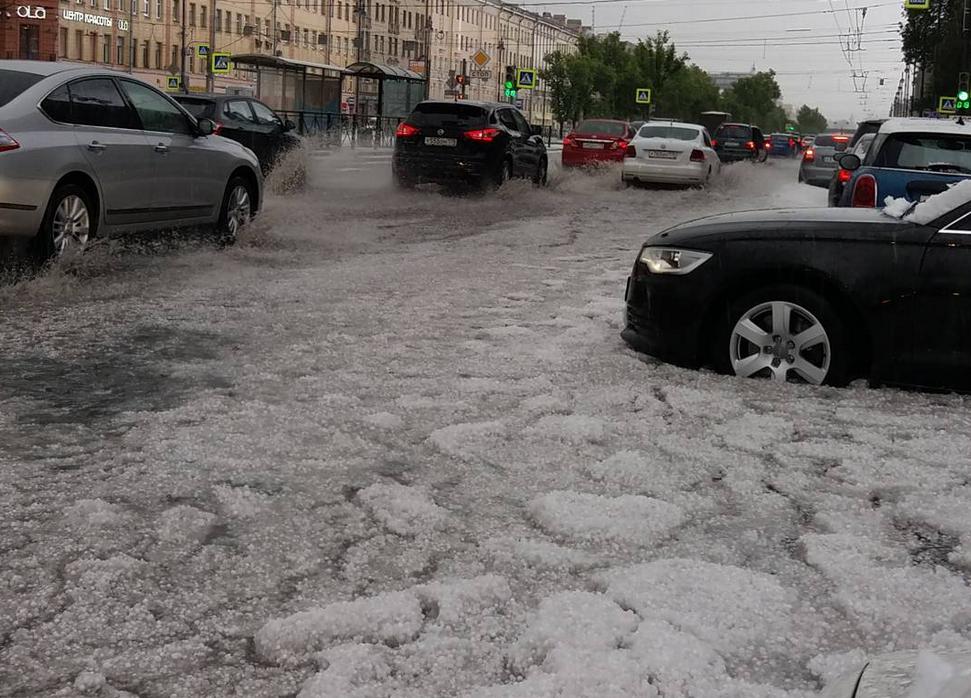 Orasul acoperit de un strat de gheata si zapada, in mijlocul lunii iulie. Pozele neobisnuite s-au viralizat. FOTO SI VIDEO