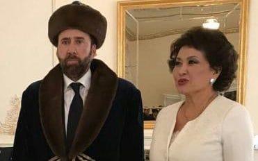 Nicolas Cage a vizitat Kazahstanul. Reactia sa in timp ce a pozat alaturi de prima doamna a tarii a cucerit retelele sociale