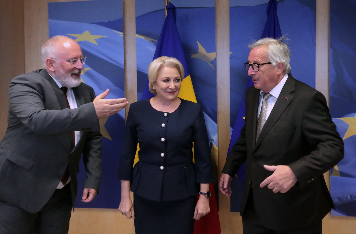 """Dăncilă: """"Am discutat la Bruxelles despre protocoalele dintre procurori şi serviciile secrete"""". Reacțiile liderilor UE"""