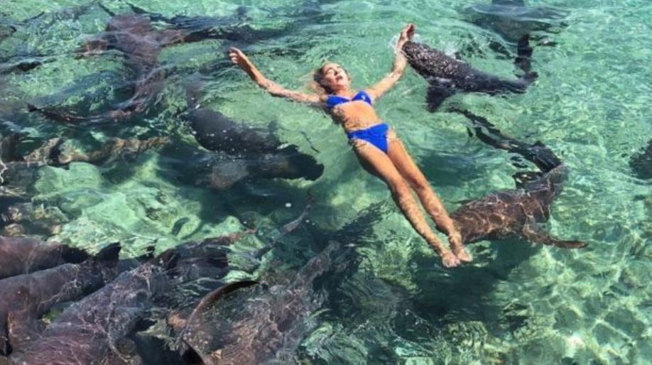 Model atacat de rechini când se afla în Bahamas. FOTO